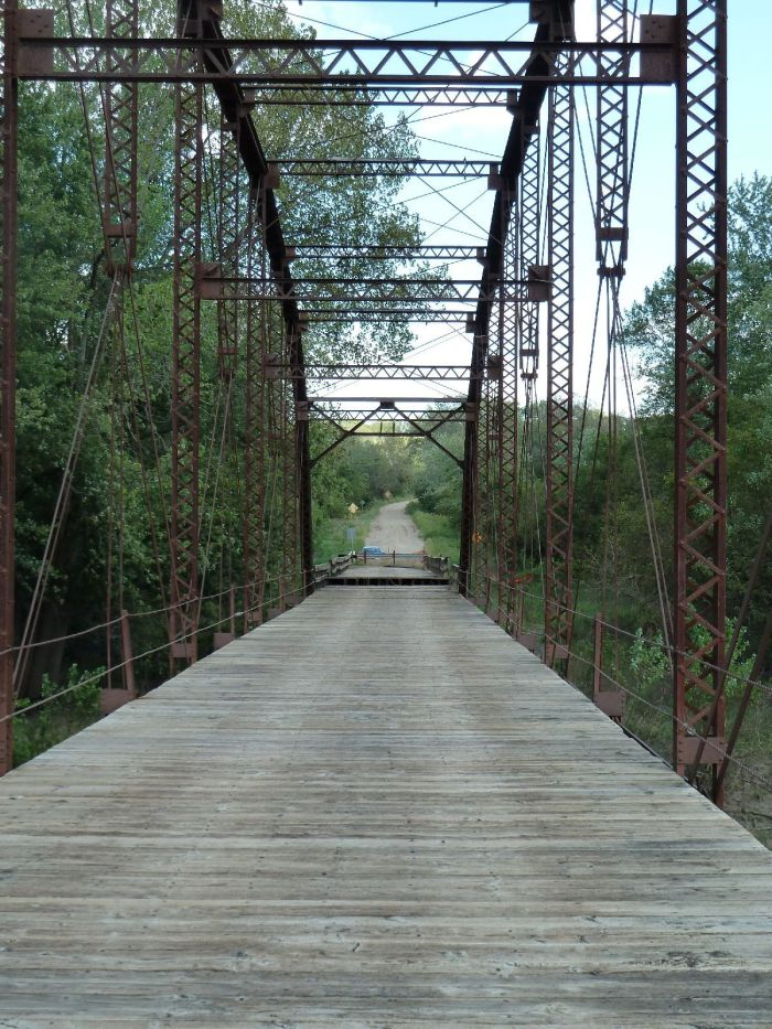 Wagon Wheel Bridge in Boone. Photo taken in September 2010 when the bridge was closed to all traffic. Recently it was rehabilitated and reopened to pedestrians only.