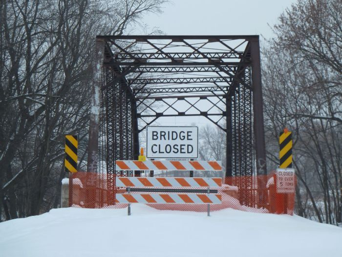 Salisbury Bridge in Meeker County. Photo taken in December 2010