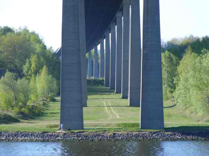 Underneath the Europabruecke near Rendsburg. Photo taken in May 2011