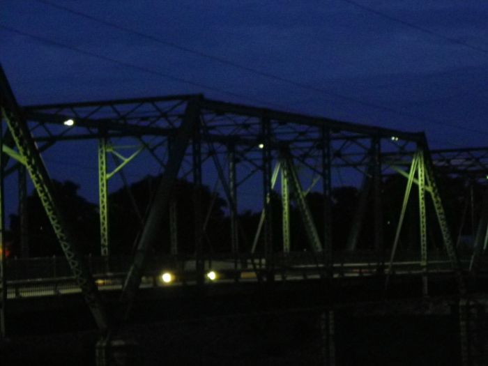 Side view of the Jackson Street Bridge.
