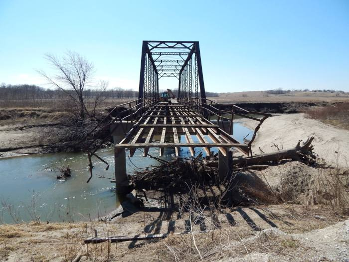 Portal view of the bridge. Photo taken by Mitch Nicholson of Abandoned Iowa