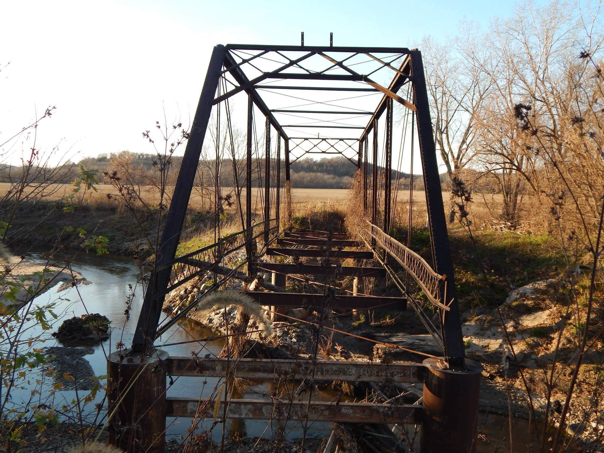 Huston Bridge over Clancy Creek. Photo taken by Mitch Nicholson
