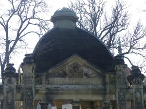 Close-up of the dome and cupola