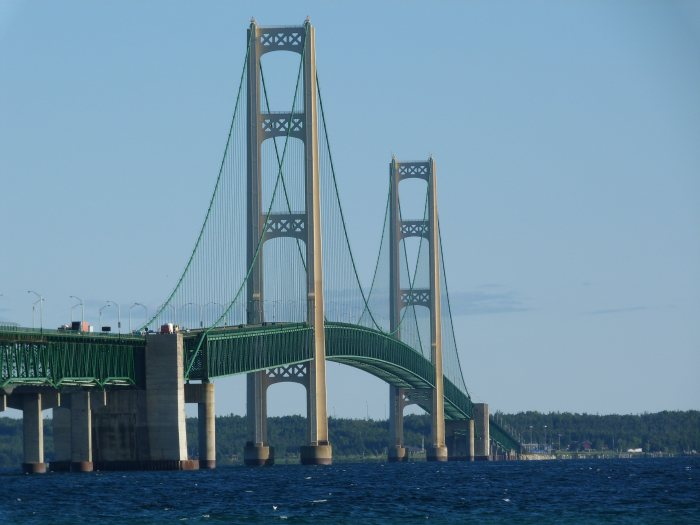 Mackinac Bridge in Michigan. Photo taken by Nathan Holth