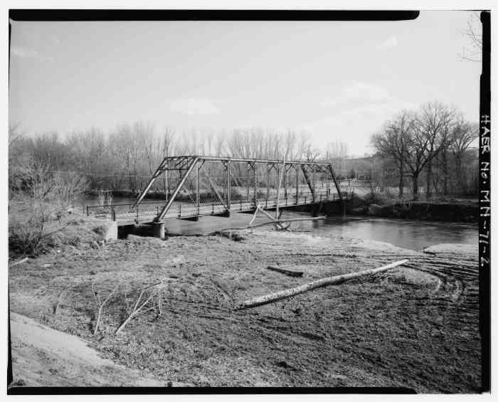 Poor Farm Bridge before its replacement. Photo courtesy of HABS HAER