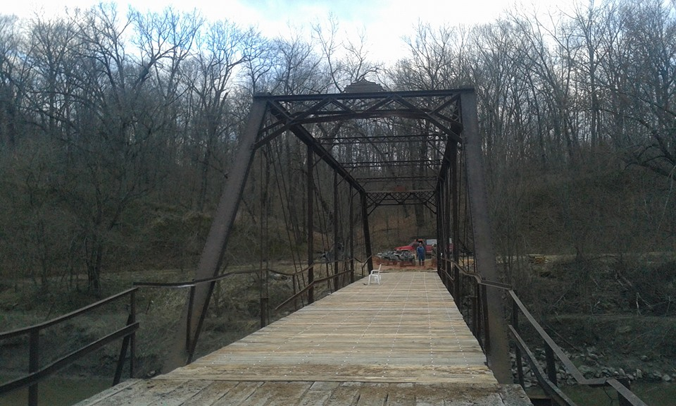 The Bunker Mill Bridge at the end of its completed restoration project. Photo courtesy of Scott Allen