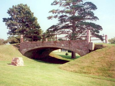 Melan Bridge at Emma Sater Park in Rock Rapids, Iowa: One of the first bridges listed on the National Register of Historic Places. Photo taken in 2009