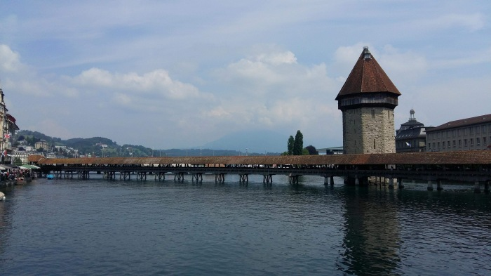 The Chapel Bridge in Lucerne Switzerland