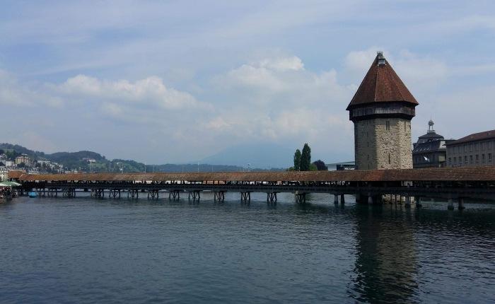 The Chapel Bridge in LucerneSwitzerland