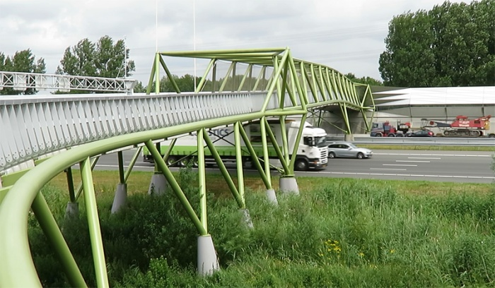 The large cycle bridge of Maarssen