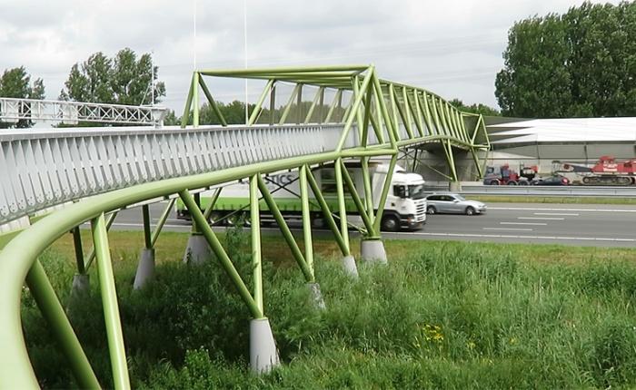 The large cycle bridge ofMaarssen