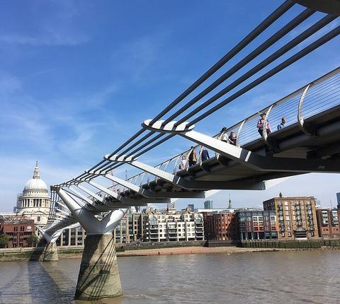 "Swipesy Cakewalk (Millennium ""Wobbly Bridge"" Footbridge, London,UK)"