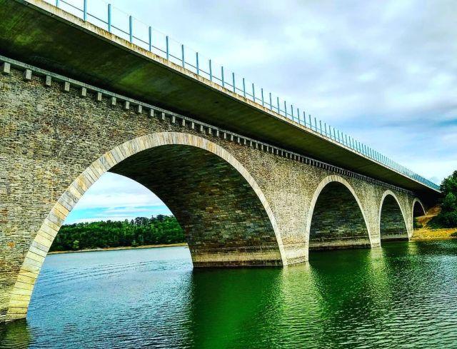 Pöhl Viaduct seven-span stone arch