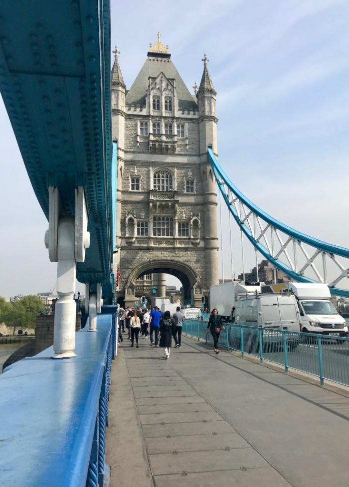 Crossing Tower Bridge London.