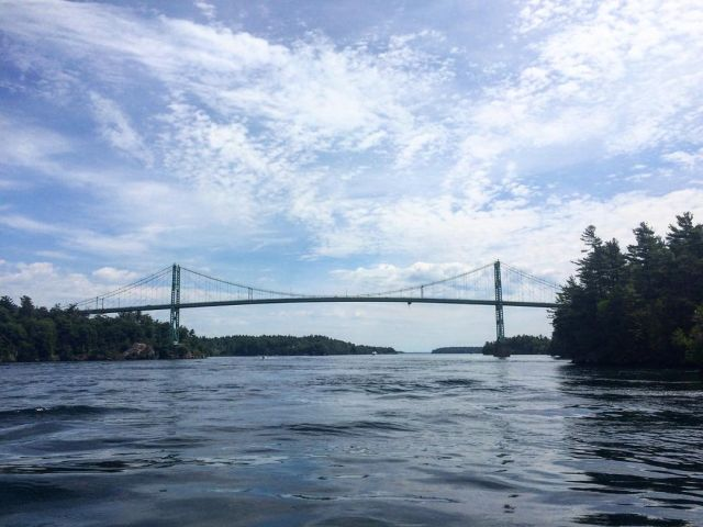Thousand Islands Bridge New York over St. Lawrence River