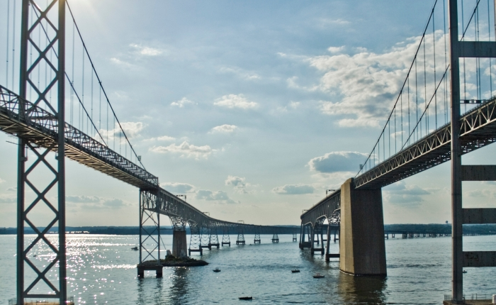 The Debut of the Chesapeake Bay Bridge in Maryland